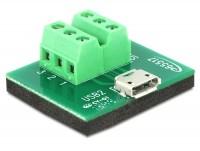 Adapter Terminalblock - Micro USB 2.0 B Buchse
