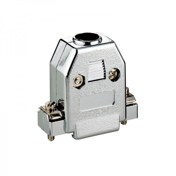 Haube für D-SUB 9-polig, Kunststoffausführung, metallisiert