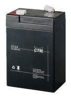 CTM CT5-6 wartungsfreier AGM-Bleiakku 6V / 5Ah Fast-on 4,8mm