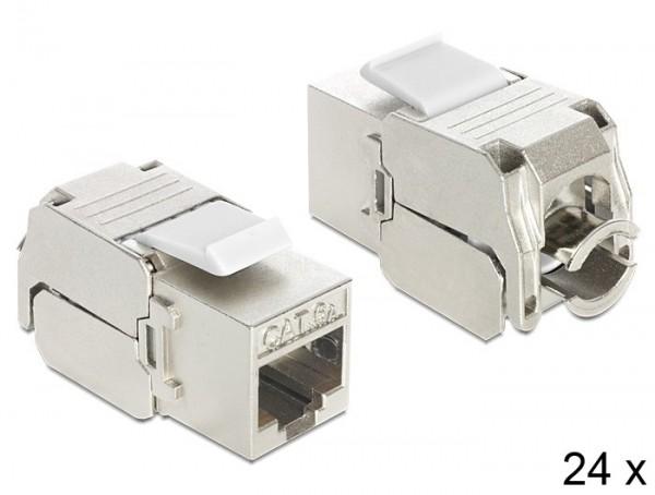 Keystone RJ45 Buchse > LSA werkzeugfrei Cat.6A - Set mit 24 Stück