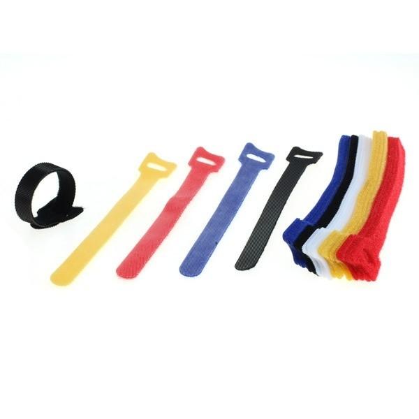 Kabelbinder, Klettverschluss 15 cm bunt, 25 Stück
