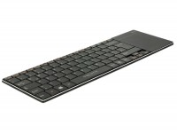 Delock Ultraslim Funk Tastatur mit Touchpad und Aluminiumgehäuse