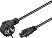 Netzkabel abgewinkelter Schutzkontakt-Stecker - IEC320-C5 Buchse schwarz 1,80m