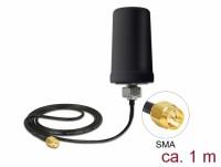GSM / UMTS Antenne SMA Stecker 0,7 - 1,6 dBi ULA100 1 m omnidirektional starr outdoor schwarz