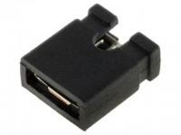 Jumper, kurze Ausführung, offen, RM 2,54mm, schwarz