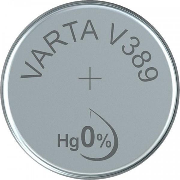 VARTA Silberoxid Uhrenbatterie V389 / SR54