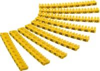 Kabelmarker-Clips / Kennzeichnungsringe, Buchstaben A-C, gelb, 3x 30 Stück