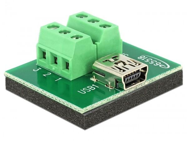 Adapter Terminalblock - Mini USB B Buchse