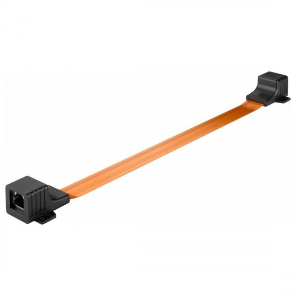 2X RJ45 Fensterdurchführung Flachkabel für Netzwerkkabel LAN extra dünn Ethernet
