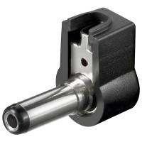 DC-Stecker / Winkelstecker / Bohrung 2,5x5,5 mm - Lötmontage