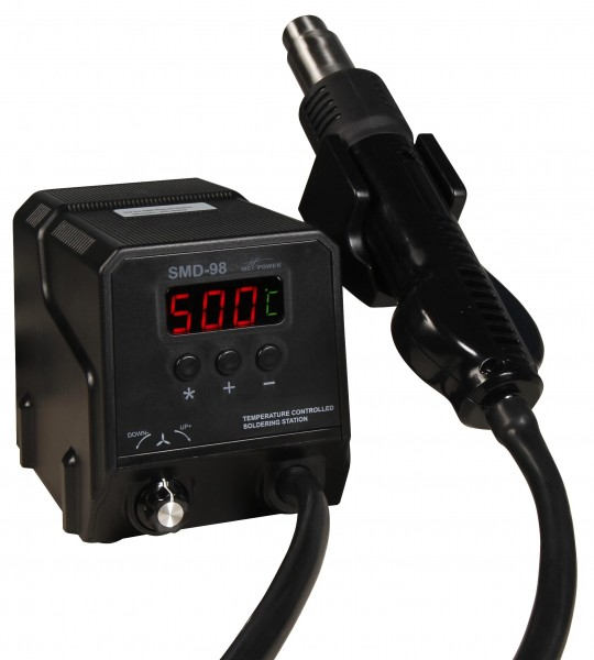 SMD Heißluft-Lötstation SMD-98, 300W, 100-500°C, inkl. 3 Aufsätzen