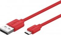 USB 2.0 Hi-Speed Kabel A Stecker - Micro B Stecker, 1,0m, rot