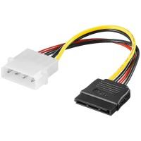 Power Adapter 4-pol. 5.25-Powerstecker - 15-pol. S-ATA Stecker