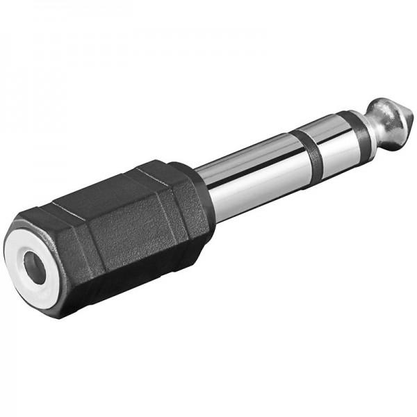Klinken Adapter 3,5mm Stereo Klinkenkupplung - 6,3mm Stereo Klinkenstecker