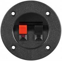 Lautsprecher Terminal, 2 pol. Klemmleiste rot/schwarz, rund für versenkten Einbau