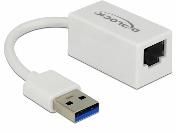 Adapter USB 3.1 Gen 1 Typ A Stecker - Gigabit LAN 10/100/1000 Mbps kompakt weiß