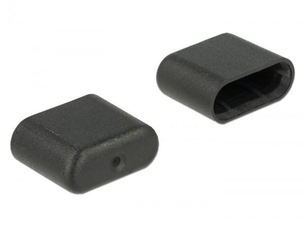 Staubschutz für USB Type-C Stecker 10 Stück schwarz