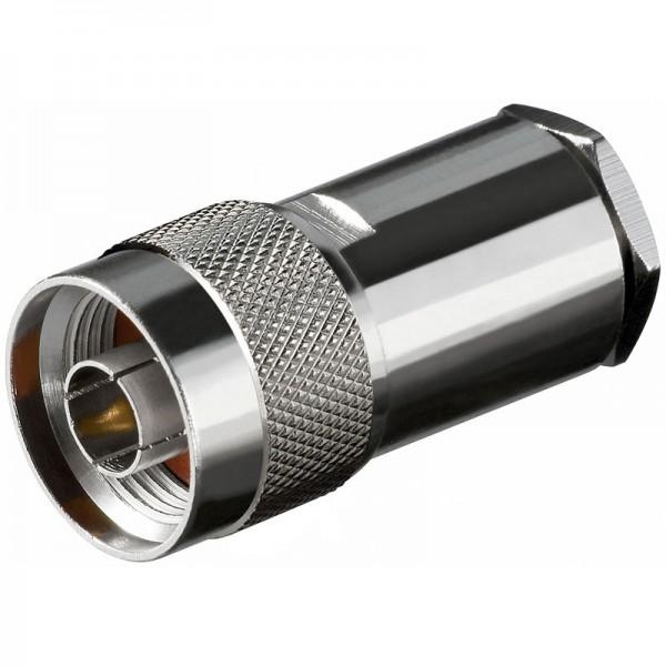 N-Stecker mit ø 11,0 mm für RG 213 Kabel mit Goldpin, Lötversion