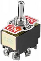 Kippschalter, 6 Pin mit Schraubanschlüssen, 2x EIN-AUS-EIN