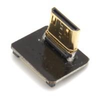 Mini HDMI Typ C Stecker, links gewinkelt, für DIY HDMI Kabel