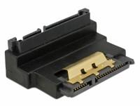 Adapter SATA 22 Pin Buchse mit Einrastfunktion zu Stecker - gewinkelt oben