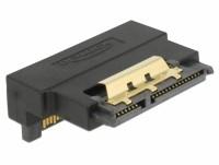 Adapter SATA 22 Pin Buchse mit Einrastfunktion zu Stecker - gewinkelt unten