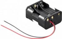 Batteriehalter für 6x Mignon AA 3/3 mit 150mm Anschlusskabel