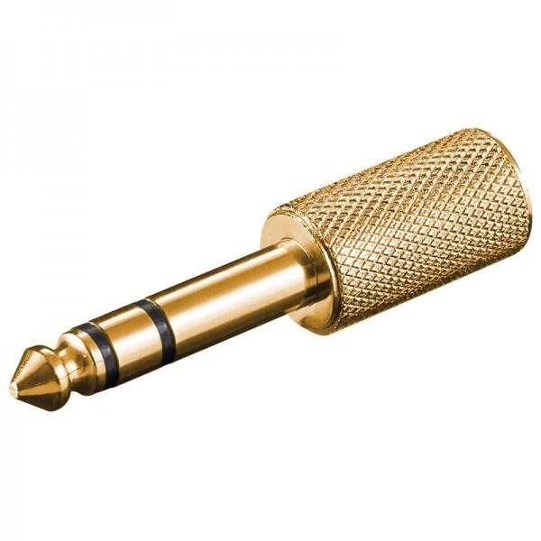 Klinken Adapter vergoldet 3,5mm Stereo Klinkenkupplung - 6,3mm Stereo Klinkenstecker