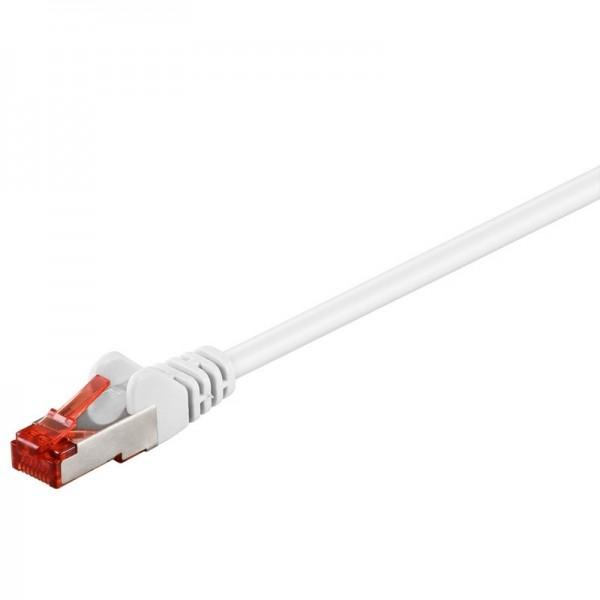 CAT 6 Netzwerkkabel, S/FTP, LS0H, weiß