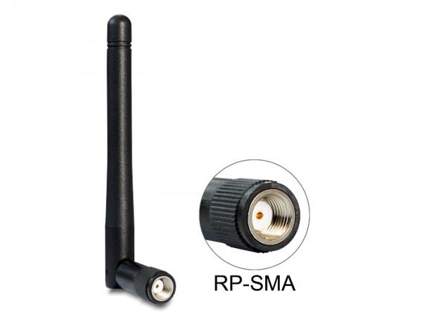WLAN 802.11 ac/a/b/g/n Antenne RP-SMA 2 dBi omnidirektional Gelenk