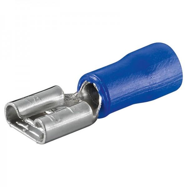 Flachstecker, weiblich, 4,8mm, blau