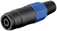PA-Lautsprecherkupplung, Speakon® kompatibel, 4-pol., Lötmontage mit Knickschutz