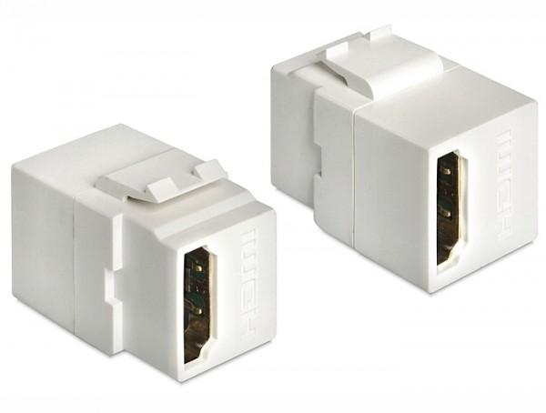 Keystone HDMI Buchse > HDMI Buchse weiß