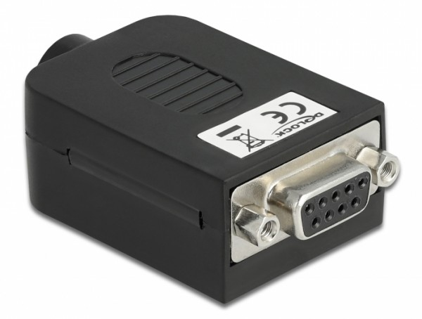 Adapter Sub-D 9 Pin Buchse - Terminalblock 10 Pin mit Gehäuse