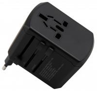 Reiseadapter, für 150 Länder, 3x USB Typ A + 1x USB Typ C, max. 4,5A