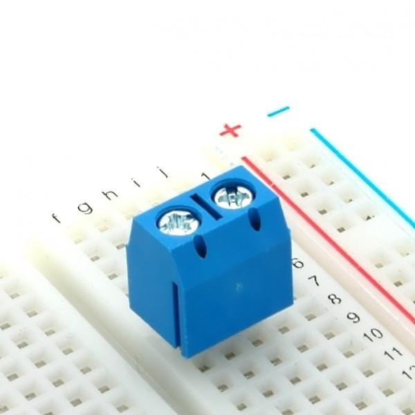 Anschlussklemme, schraubbar, 90° gewinkelt, 1,25mm², RM 5,08mm, 2-polig