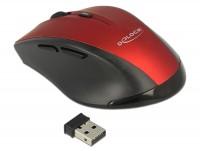 Ergonomische optische 5-Tasten Maus 2,4 GHz wireless schwarz/rot