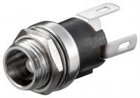 DC-Einbaubuchse für Hohlstecker 5,5x2,1mm - Lötanschluss