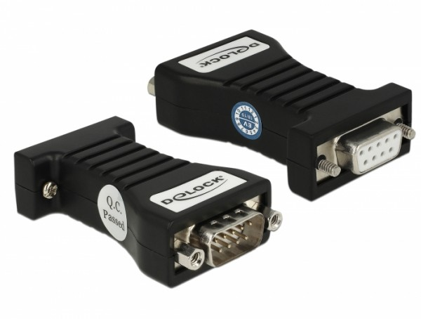 Isolator 1x Seriell RS-232 DB9 Buchse - 1x Seriell RS-232 DB9 Stecker 3 kV