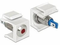 Keystone LED rot 6V flach, weiß