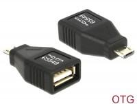 OTG Adapter USB Micro B Stecker - USB 2.0 Buchse, voll geschirmt