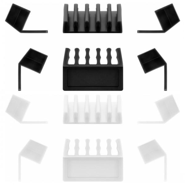 Kabelmanagement / Kabelhalter, 5-Slots, 2er Set