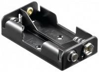 Batteriehalter für 2x Mignon AA mit Druckknopfanschluss