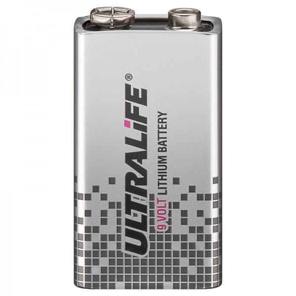 ULTRALIFE Batterie Lithium 9V-Block