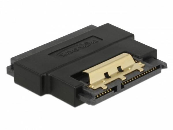 Adapter SATA 22 Pin Buchse zu Stecker mit Einrastfunktion - Portschoner