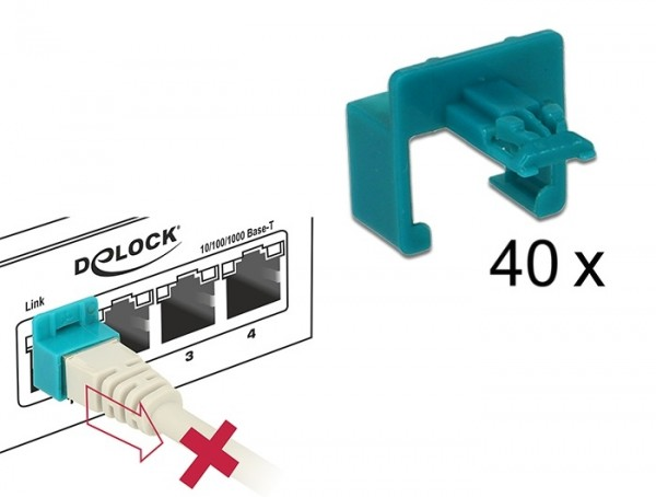 RJ45 Secure Clip, 40 Stück Set