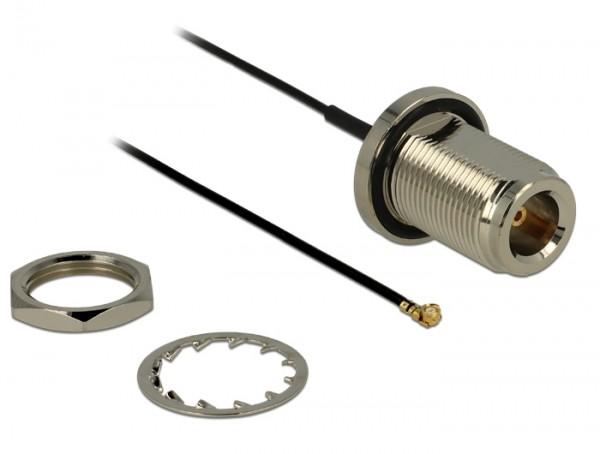 Antennenkabel N Buchse zum Einbau - MHF/U.FL kompatibler Stecker 130 mm spritzwassergeschützt