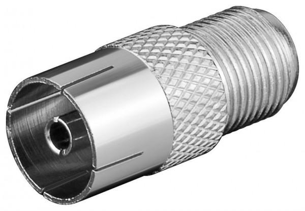 Adapter, F-Buchse - Koax-Buchse