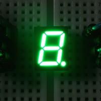 7-Segment-Anzeige, 10mm, gemeinsame Kathode, 140mcd, grün