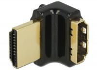 Premium 4K HDMI Winkeladapter A Stecker - Buchse 90° oben gewinkelt
